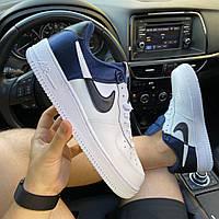 Мужские кроссовки Nike Air Force 1 LV8 1 NBA White Blue (бело-синие) C-1923