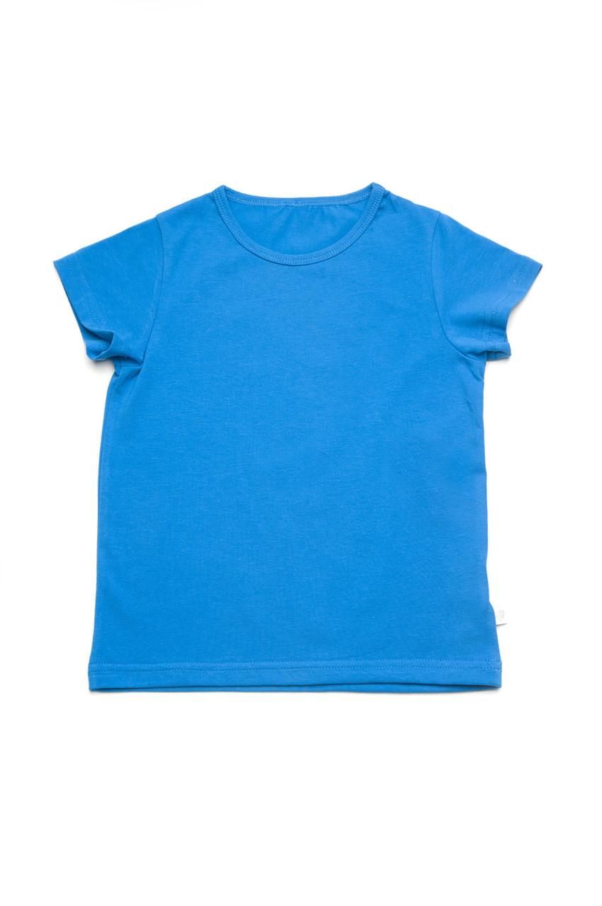 Футболка на хлопчика базова дитяча блакитна
