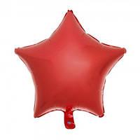 Шарик (45см) Звезда красный матовый