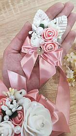 Бутоньєрка весільна Bouquet. Колір подрувый.