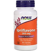 """Иприфлавон NOW Foods """"Ipriflavone"""" поддержка здоровья костей, 300 мг (90 капсул)"""