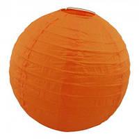 Декор подвесной Шар (35см) оранжевый