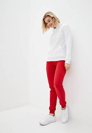 Штани жіночі спортивні, червоні, фото 2
