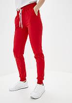 Штани жіночі спортивні, червоні, фото 3