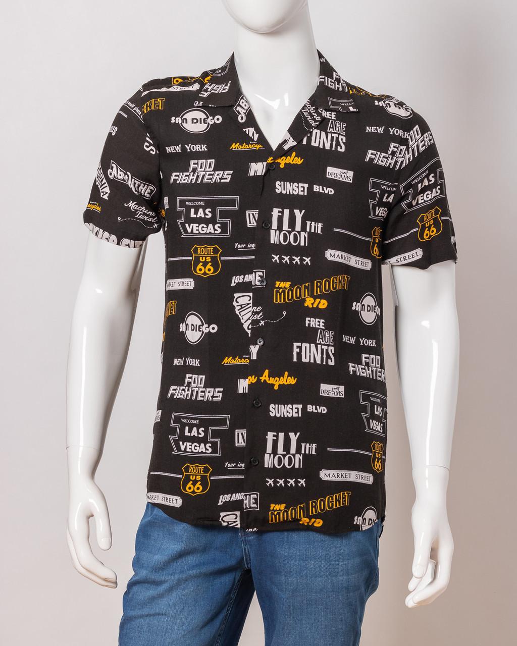 Рубашка с коротким рукавом мужская TWISTER EG 1722 SIYAH
