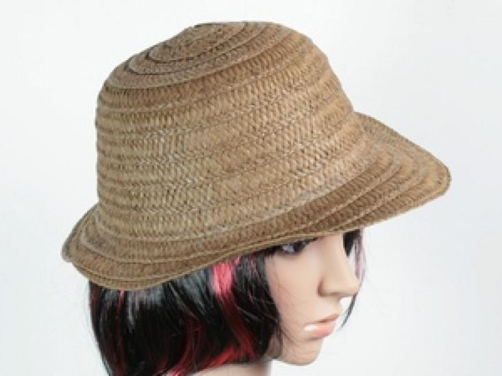 Соломенная шляпа Бебе 29 см темно-коричневая 277519-07-СТ