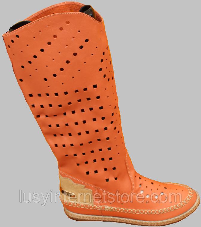 Сапоги летние женские кожаные от производителя модель ДС81-3