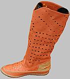 Сапоги летние женские кожаные от производителя модель ДС81-3, фото 2