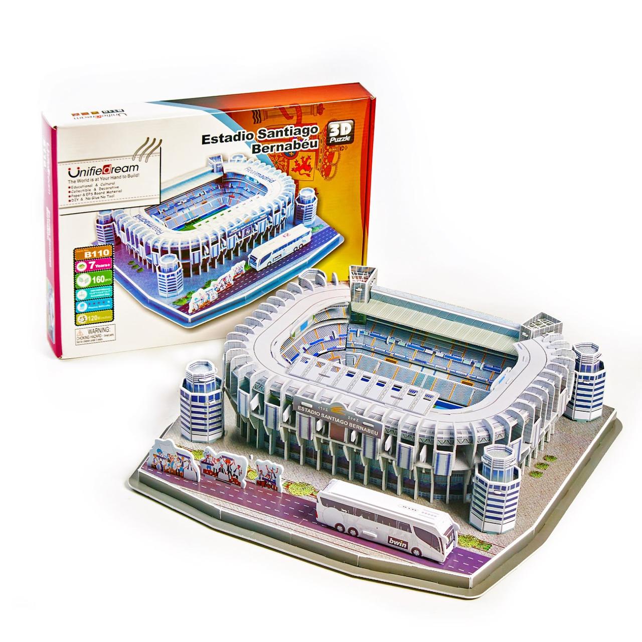 """Величезні 3D пазли """"Santiago Bernabéu"""" Тривимірний конструктор-головоломка Стадіон Реал Мадрид"""