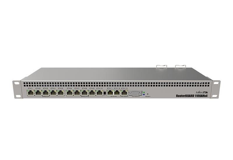 Маршрутизатор MikroTik RB1100AHx4 (4x1,4GHz/1Gb, ARM 32Bit, 13xGE, PoE In)