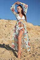 Женская длинная туника-парео с цветочным принтом (1603.4203-4194-4185 svt)