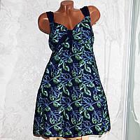 Большой купальник 74 размер (14XL). Модный синий купальник, танкини, для пышных женщин, есть размеры 66-74