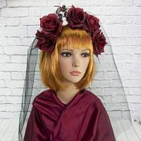 Украшение на голову Хэллоуин Ленор с фатой 9135-012
