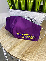 Маски с вашей вышивкой Фиолетовая, Унисекс от 10шт
