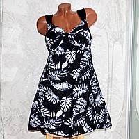 Большой купальник 70 размер (12XL). Черный купальник-платье, танкини, для больших женщин