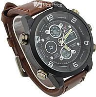 Мужские наручные армейские часы Amst Sport Brown