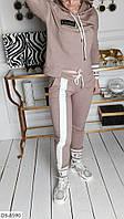Тонкий женский спортивный костюм свитшот и штаны арт 022