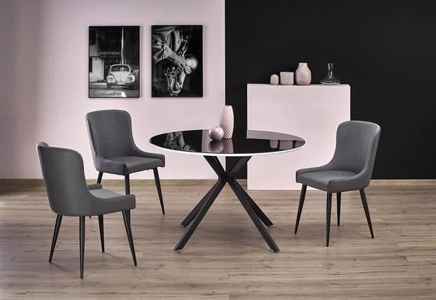 Стол обеденный AVELAR fi120/76 cm, черный, фото 2