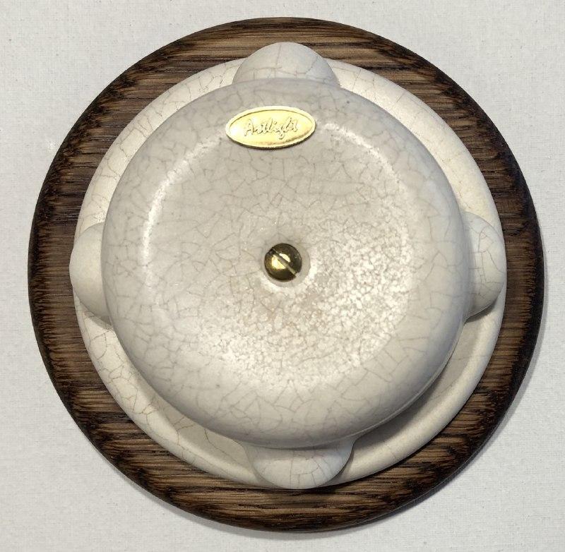 Ретро Розподільна коробка порцеляновий Artlight, Айвари, фурнітура нікель, бронза