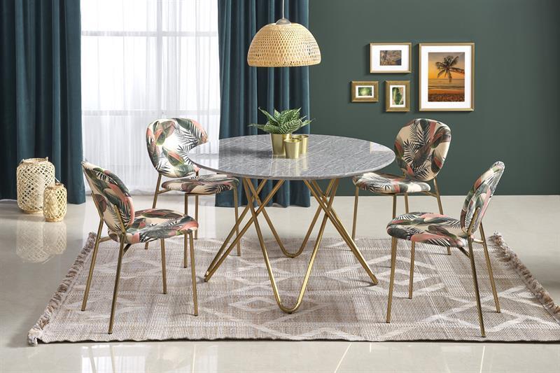 Стол обеденный BONELLO o120/76 cm, серый