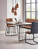 Прямоугольный обеденный стол на металлических ножках, фото 2