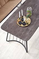 Прямоугольный обеденный стол на металлических ножках, фото 3