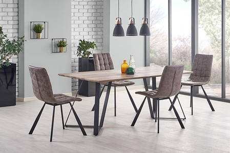 Прямокутний обідній стіл з МДФ на металевих ніжках, фото 2