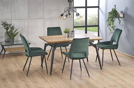 Прямоугольный раскладной обеденный стол бежевый, фото 2