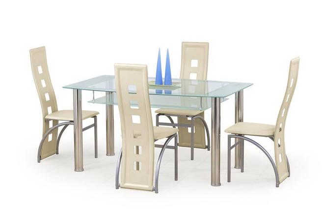 Стол обеденный CRISTAL 150/90/77 cm, прозрачный, фото 2