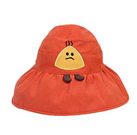 """Детская панамка с открытой макушкой для девочки """"Картошка"""" Оранжевая (2-5 лет)"""