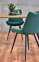 Стіл обідній ESPOSITO 160/90/76 см, горіх/чорний, фото 3