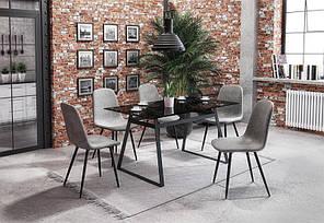 Стол обеденный HERALD 140/80/74 cm, дымчатый, фото 2