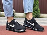 Жіночі літні кросівки сітка Nike Air чорні з білим, фото 2