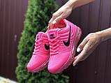 Женские летние кроссовки сетка Nike Air розовые, фото 2