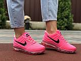 Женские летние кроссовки сетка Nike Air розовые, фото 3