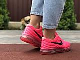 Женские летние кроссовки сетка Nike Air розовые, фото 4