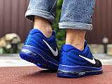 Мужские  кроссовки сетка Nike Air черные с синим, фото 3