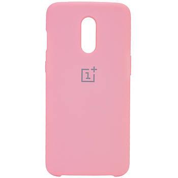 Чехол силиконовый для телефона Silicone Cover (AA) для OnePlus 7 Розовый / Cotton Candy