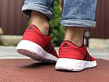 Мужские кроссовки Adidas красные, фото 4