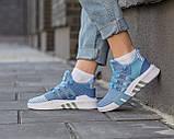 Женские кроссовки Adidas EQT Bask ADV Blue, фото 6