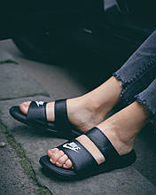 Жіночі шльопанці Nike Benassi Duo Ultra Black Side