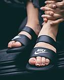 Жіночі шльопанці Nike Benassi Duo Ultra Black Side, фото 4