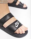 Жіночі шльопанці Nike Benassi Duo Ultra Black Side, фото 5