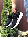 Чоловічі кросівки Running чорно білі, фото 2