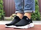 Чоловічі кросівки Running чорно білі, фото 3