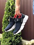 Чоловічі кросівки Running темно сині з білим, фото 4