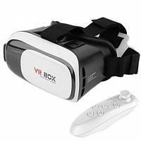 Очки виртуальной реальности VR BOX 2.0 для смартфона + функция 3D с пультом управления Белые