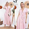 Платье женское макси в горошек (3 цвета) ВШ/-1213 - Розовый