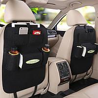 Органайзер в автомобиль Vehicle mounted storage bag Универсальный чехол на спинку сиденья в авто Черный