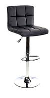 Барный стул Hoker MONZO с регулированием высоты и поворотом сидения Эко кожа Черный